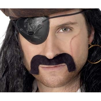 Moustache noire de pirate