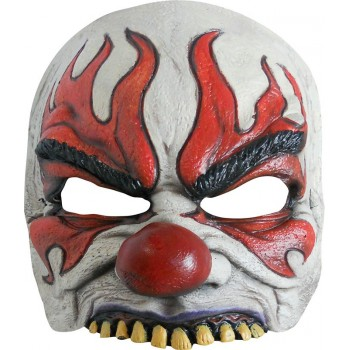 Demi-masque Clown terrifiant