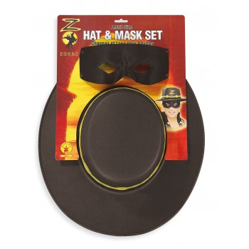 Masque + chapeau Zorro adulte
