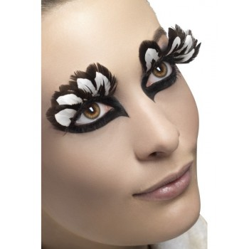 Faux cils plumes blanches...