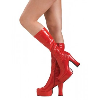 Bottes rouges disco femme Luxe