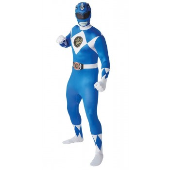 Déguisement Power rangers bleu adulte