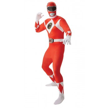 Déguisement Power rangers rouge adulte