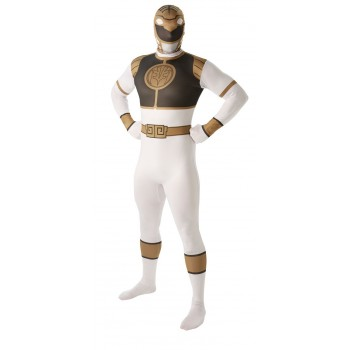 Déguisement Power rangers blanc adulte