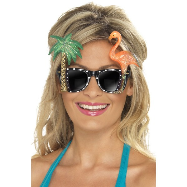 Lunettes tropicales Flamand rose