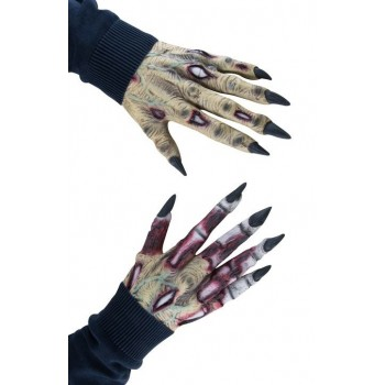 Mains horribles de zombie en latex