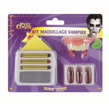 Kit maquillage vampire avec dents