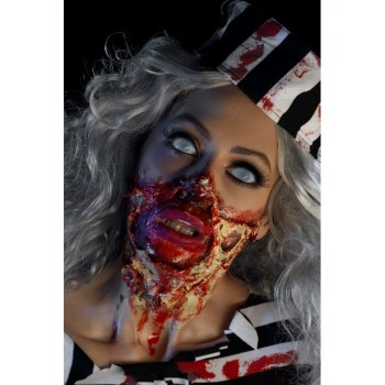 Kit maquillage latex zombie décomposé Halloween