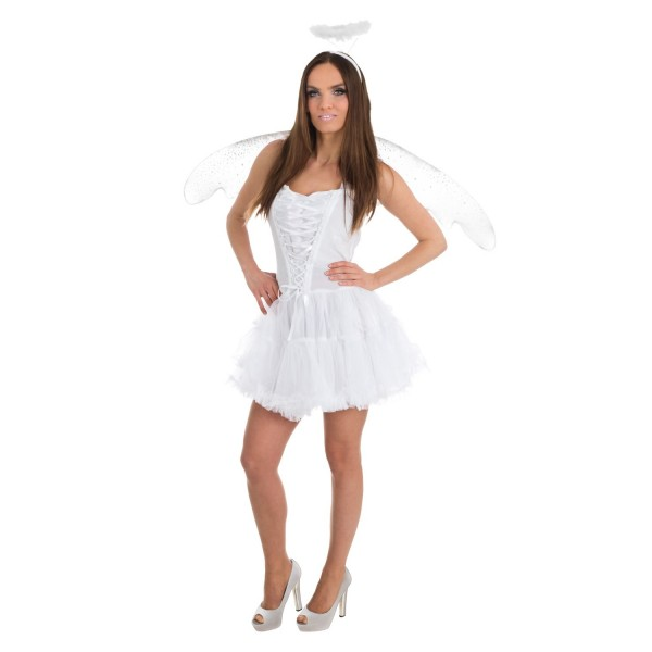 Déguisement ange blanc femme