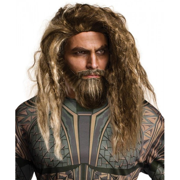 Perruque et barbe Aquaman adulte
