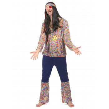 Costume hippie multicolore...