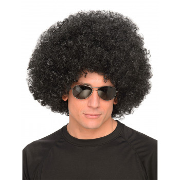 Perruque noire style afro...