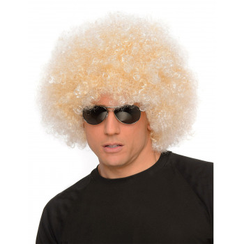 Perruque blonde homme afro...
