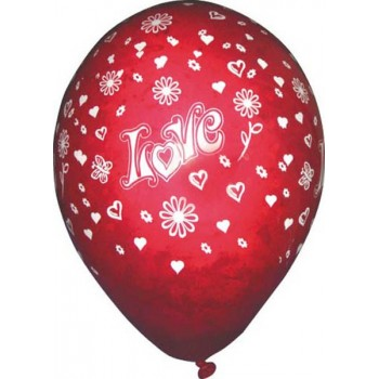 "Lot de 100 ballons ""I love..."