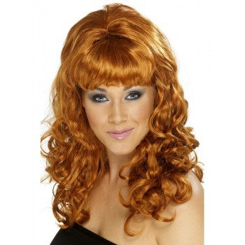 Perruque glamour rousse...