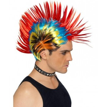 Perruque Punk mohican adulte