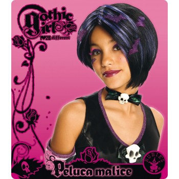 Perruque Miss Demonia enfant